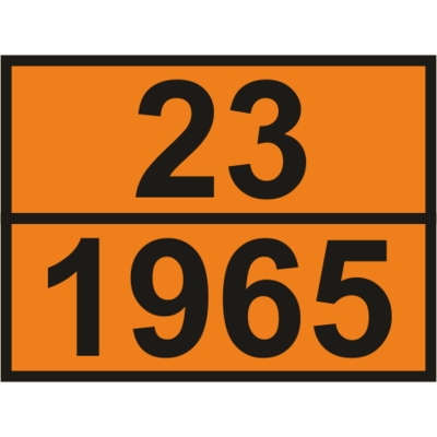 Наклейка Смесь газов пропан-бутан