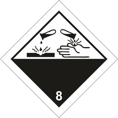 Наклейка Коррозионные вещества