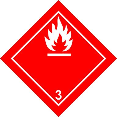Наклейка Легковоспламеняющиеся жидкости