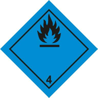 Наклейка Вещества, способные к самовозгоранию1