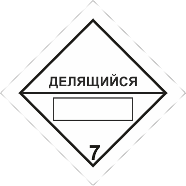 Наклейка Радиоактивные материалы, делящийся материал