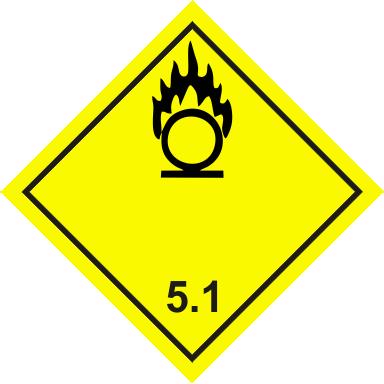 Наклейка Окисляющие вещества 5,1