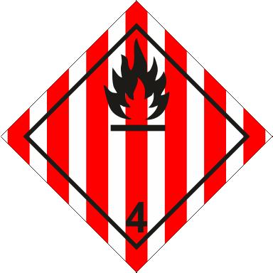 Наклейка Легковоспламеняющиеся твердые вещества