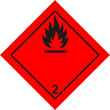 Наклейка Легковоспламеняющиеся газы