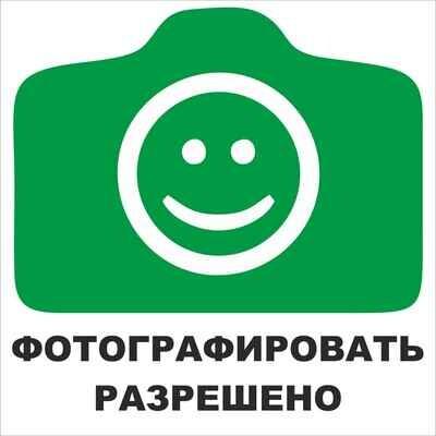 Наклейка Фотографировать разрешено