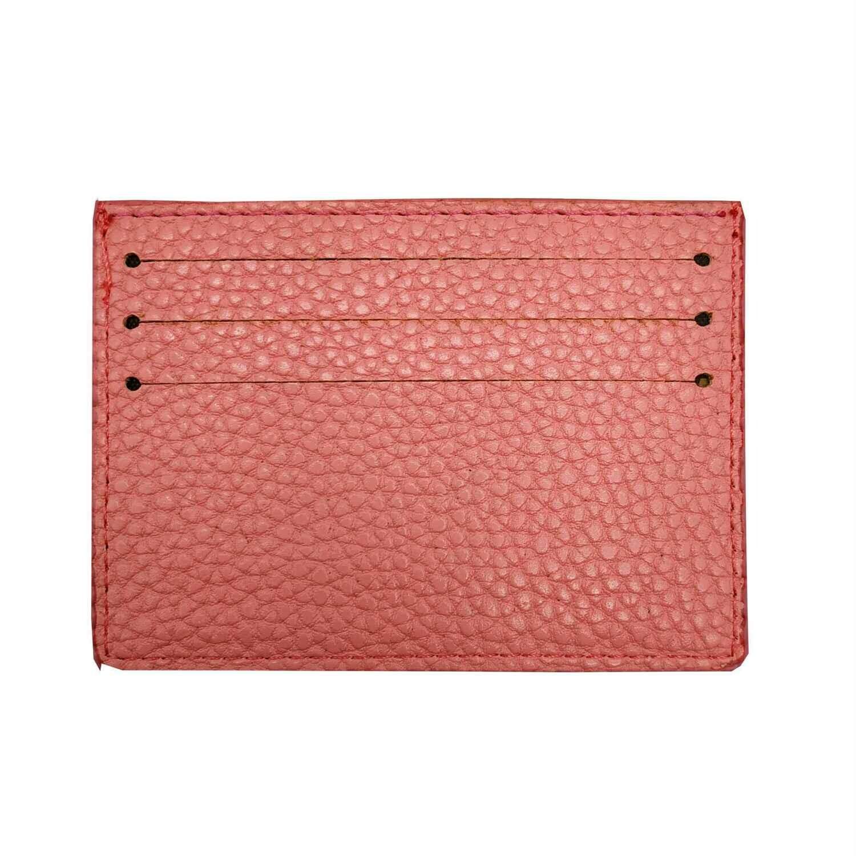 Визитница-кармашек розовая