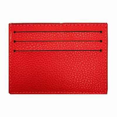 Визитница-кармашек красная