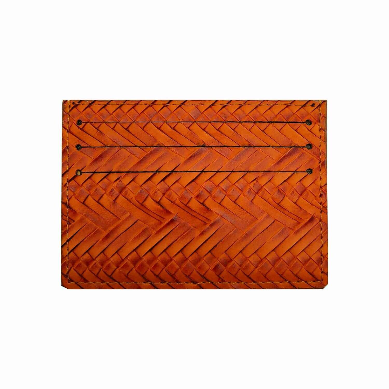 Визитница-кармашек коричневая