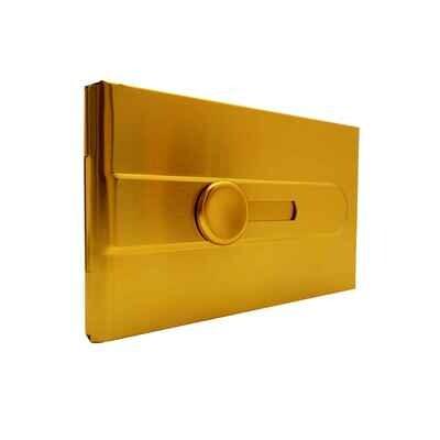 Визитница алюминиевая желтая