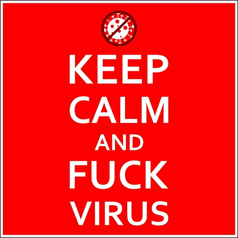 Наклейка Keep Calm Fck Virus