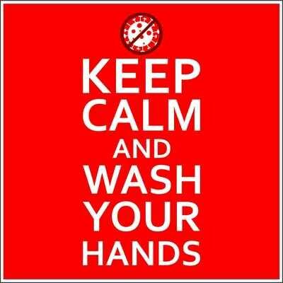 Наклейка Keep Calm Wash Hands