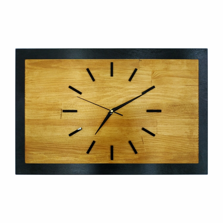 Часы деревянные чёрные с тайником