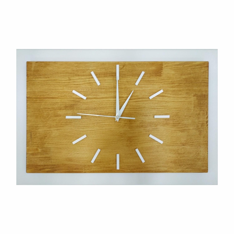 Часы деревянные белые с тайником