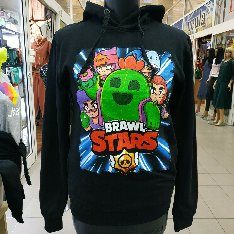 "Толстовка Brawl Stars  ""Все герои"" черная"