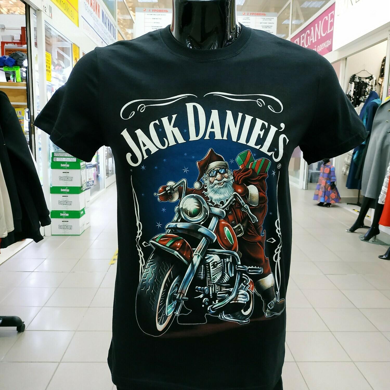 """ФУТБОЛКА Дед Мороз """"Jack Daniels"""" черная"""