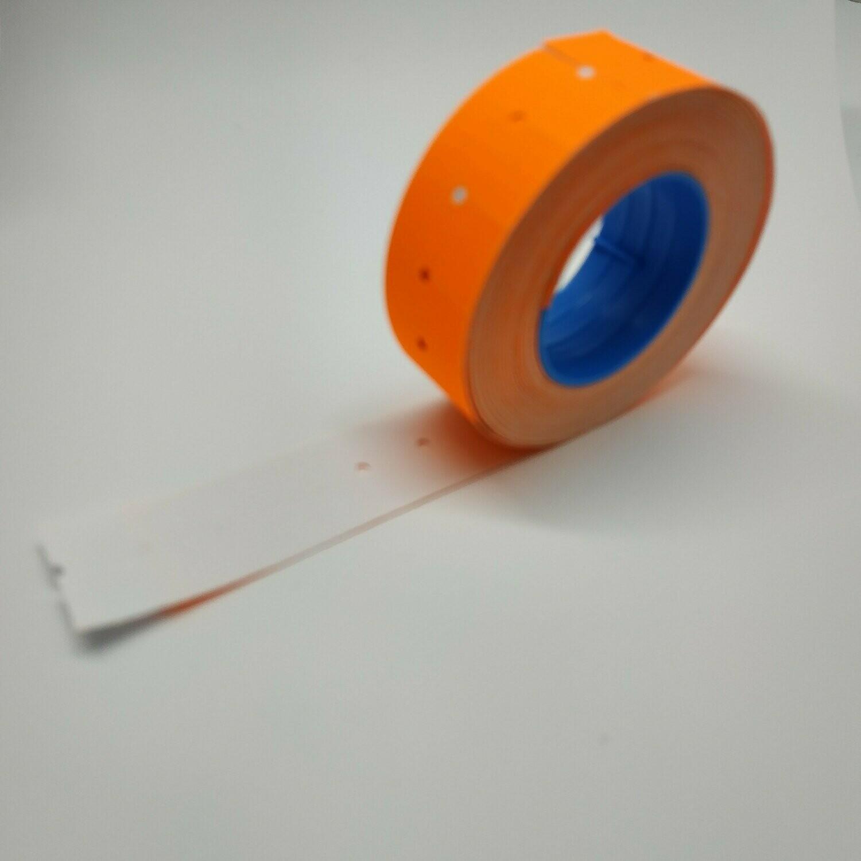 Ролик лента для этикет-пистолета оранжевый неон, 1000 стикеров