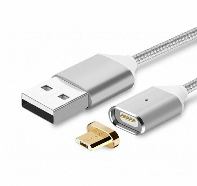 Кабель Магнитный MicroUSB - USB G4 2 in 1 серый 1м