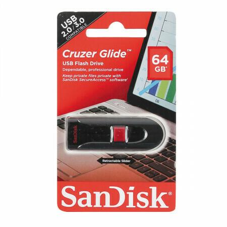"USB флеш-диск SanDisk ""Cruzer Glide"" 64GB"