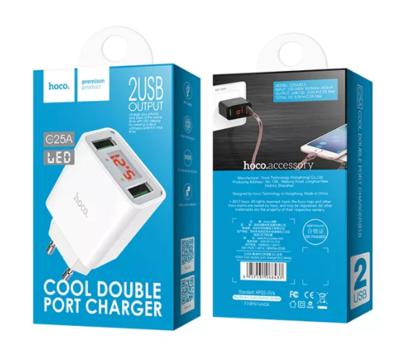 Зарядное устройство универсальное Hoco C25A 2USB 2.2A белый