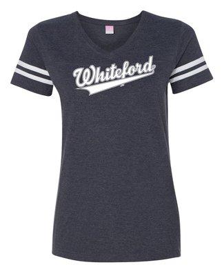 Whiteford Swoosh Ladies Striped Tee