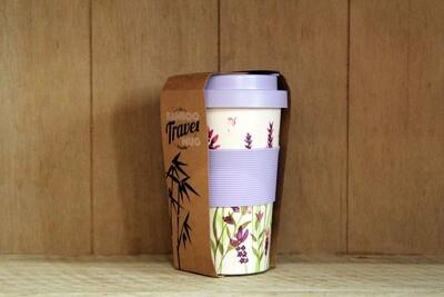 Bamboo floral travel mug