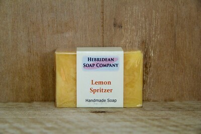 Lemon spritzer soap bar