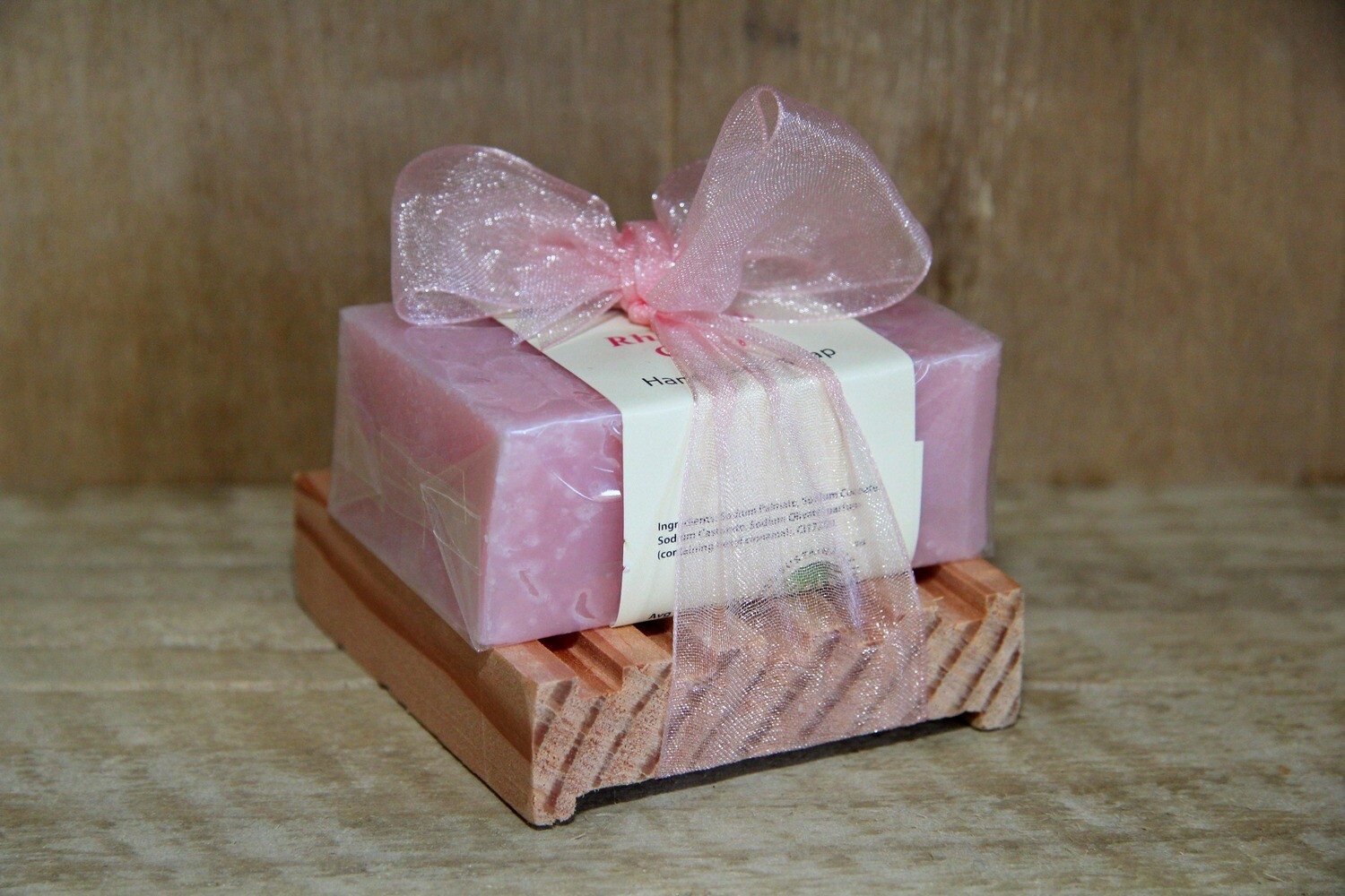 Rhubarb crush soap bar & dish