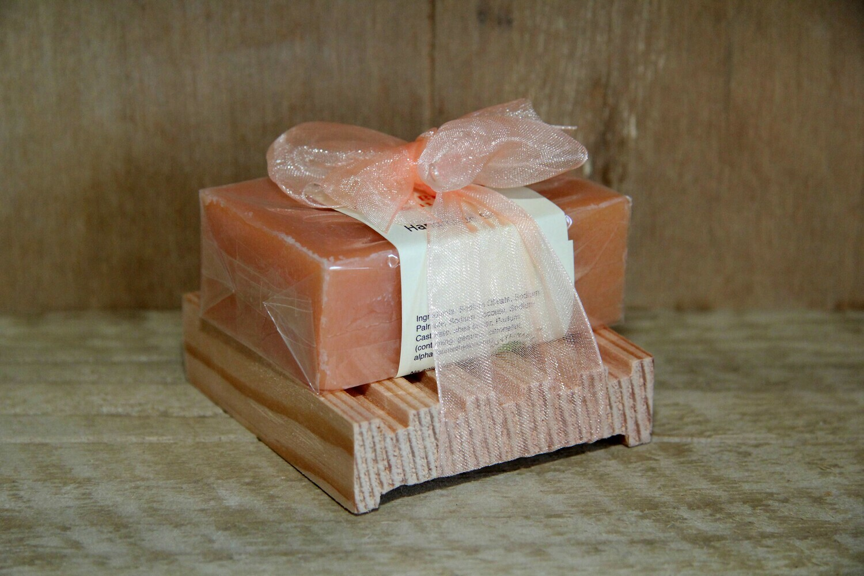 Orange blossom and honey soap bar & dish