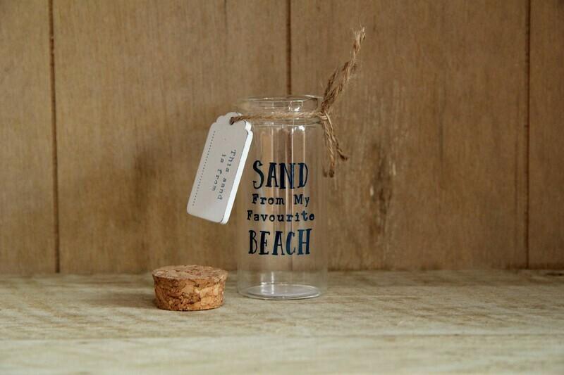 Glass bottle - favourite beach