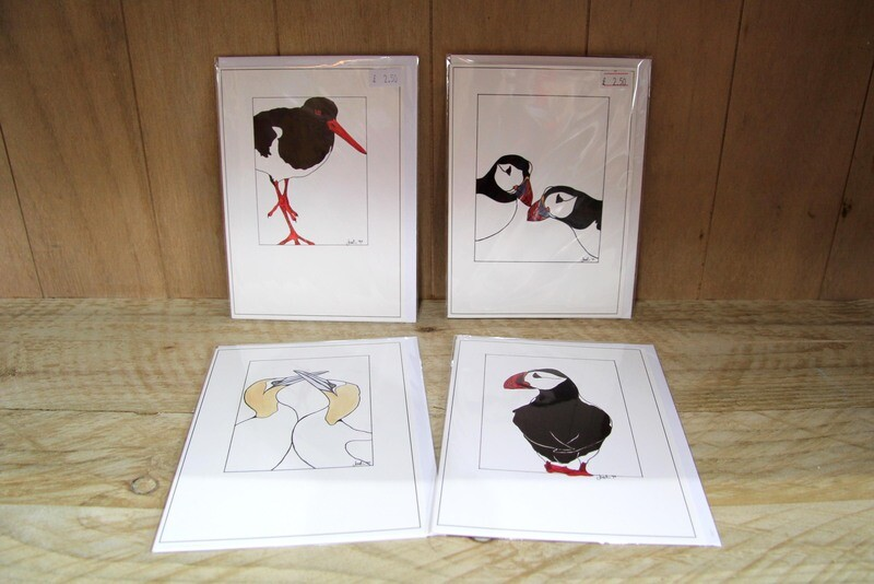 Birds greeting cards - pack of 4