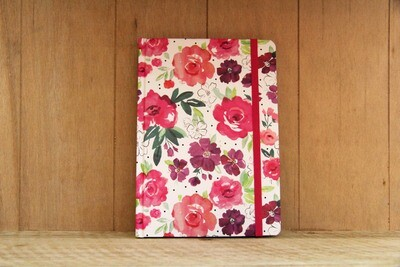 Floral A5 notebook