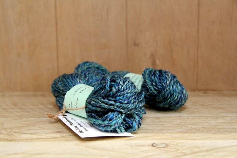 Merino & tussah silk handspun wool - sea blue