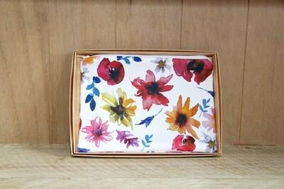 Floral make up / wash bag (B)
