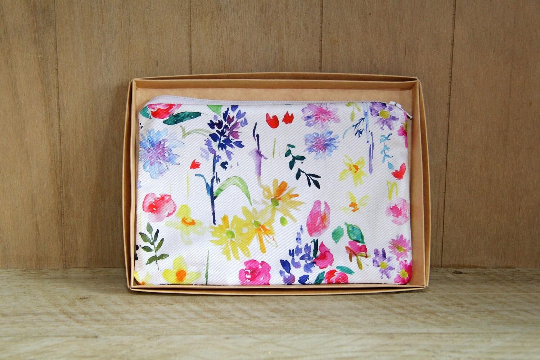 Floral make up / wash bag (Y)