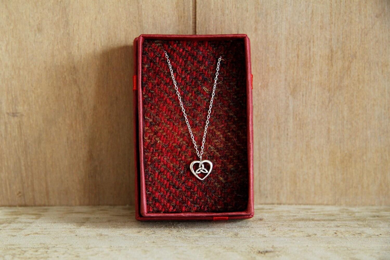 Celtic knot heart necklace