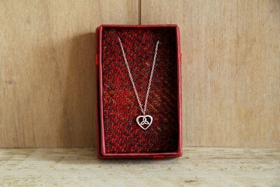 Celtic knot heart necklace