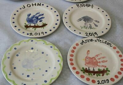 Toddlers Plate Mini Memories (formerly Children's Art)