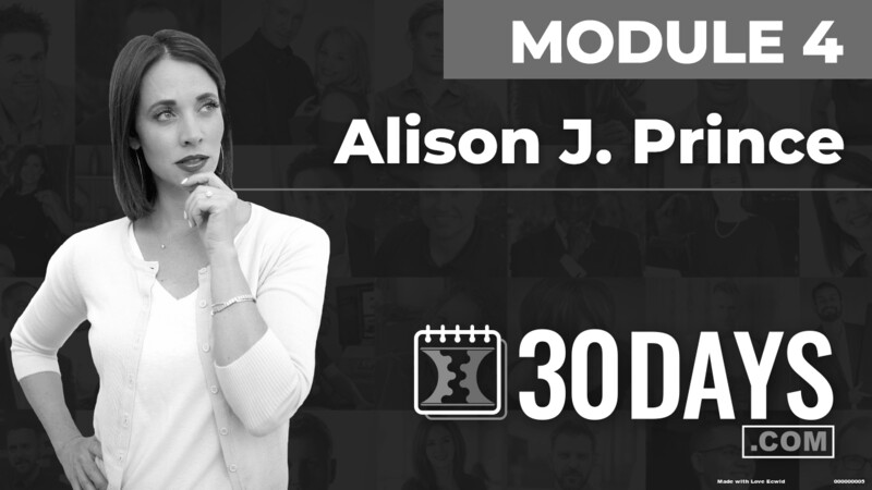 Courses Quick Starts lessons Alison J Prince topic Summit Interview
