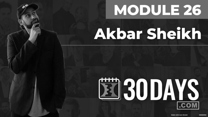 Courses Quick Starts lessons Akbar Sheikh topic Behind The Scenes