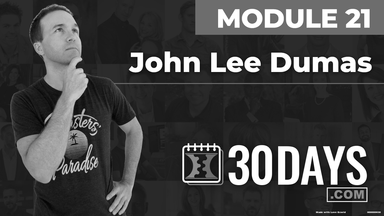 Courses Quick Starts lessons John Lee Dumas topic Behind The Scenes