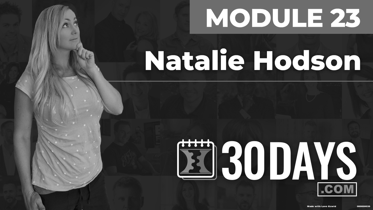 Courses Quick Starts lessons Natalie Hodson topic Summit Interview