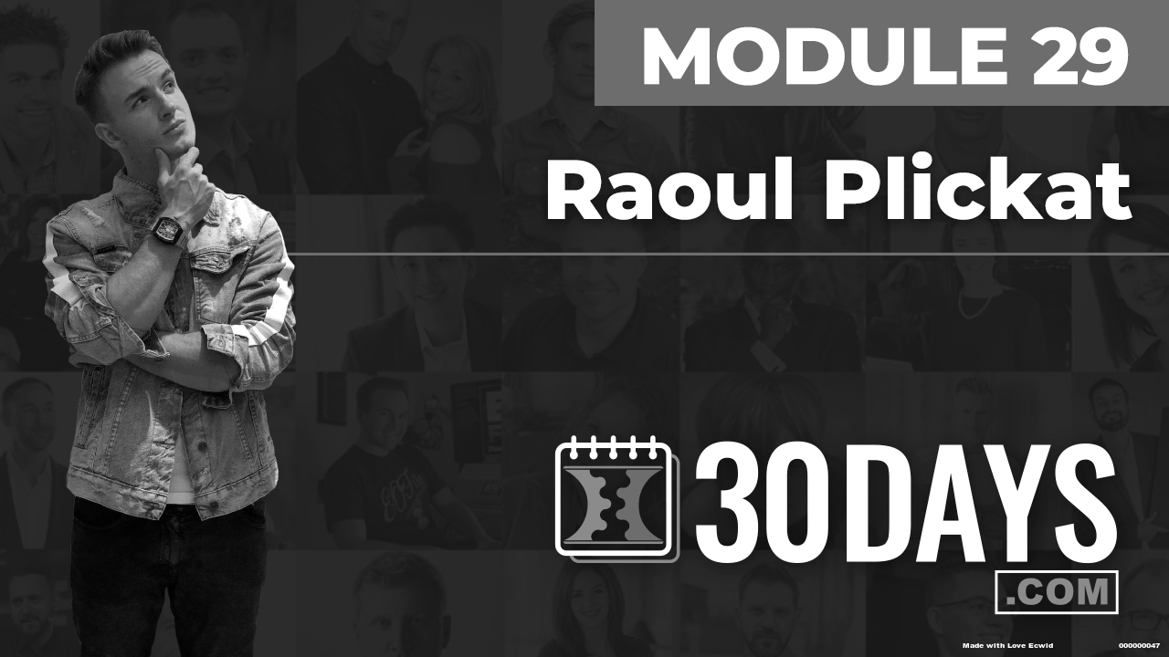 Courses Quick Starts lessons Raoul Plickat topic Summit Interview