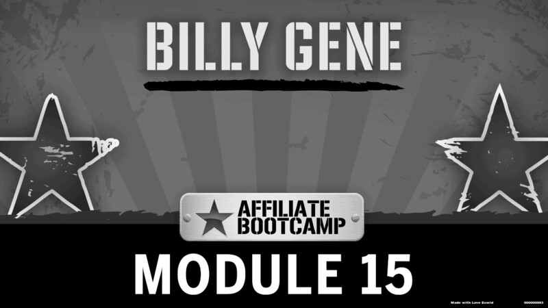 Courses Quick Starts lessons Billy Gene topic Behind the Scenes