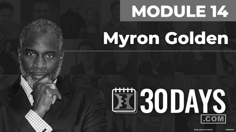 Courses Quick Starts lessons Myron Golden topic Behind The Scenes