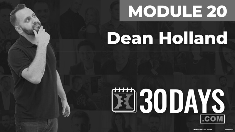 Courses Quick Starts lessons Dean Holland topic Summit Interview