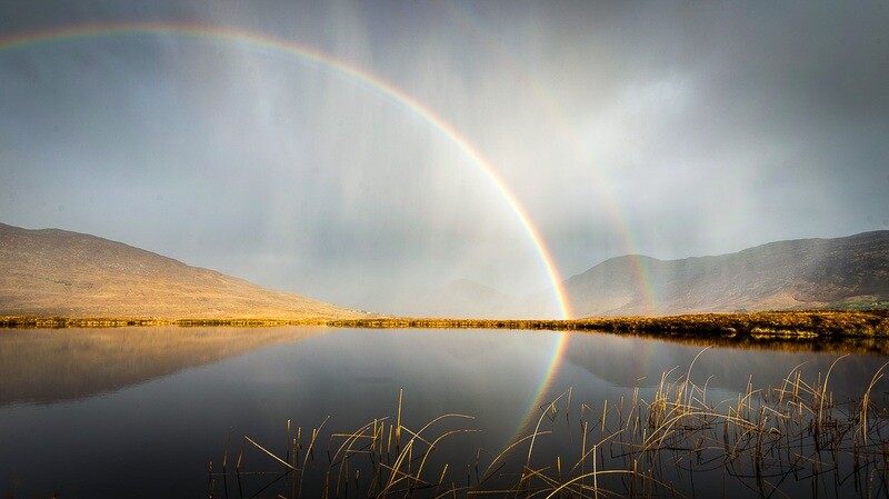 Lough Inagh Rainbow. Connemara, Galway.