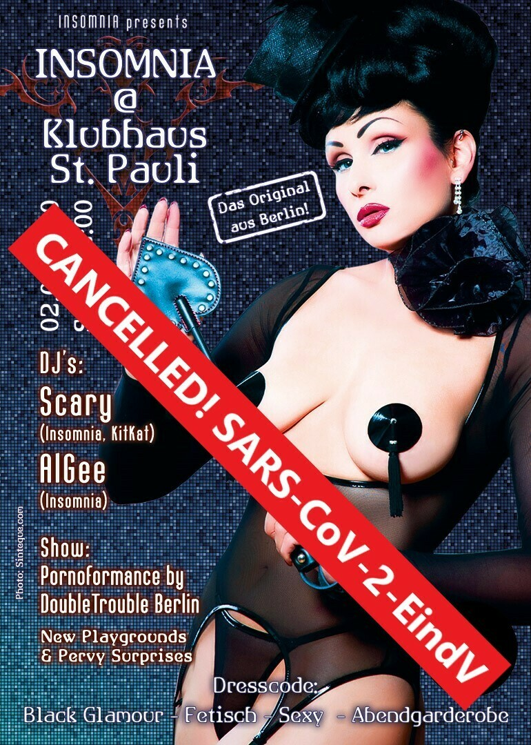 ! CANCELLED because of Covid-19 ! INSOMNIA @ Klubhaus St. Pauli/ Bahnhof Pauli