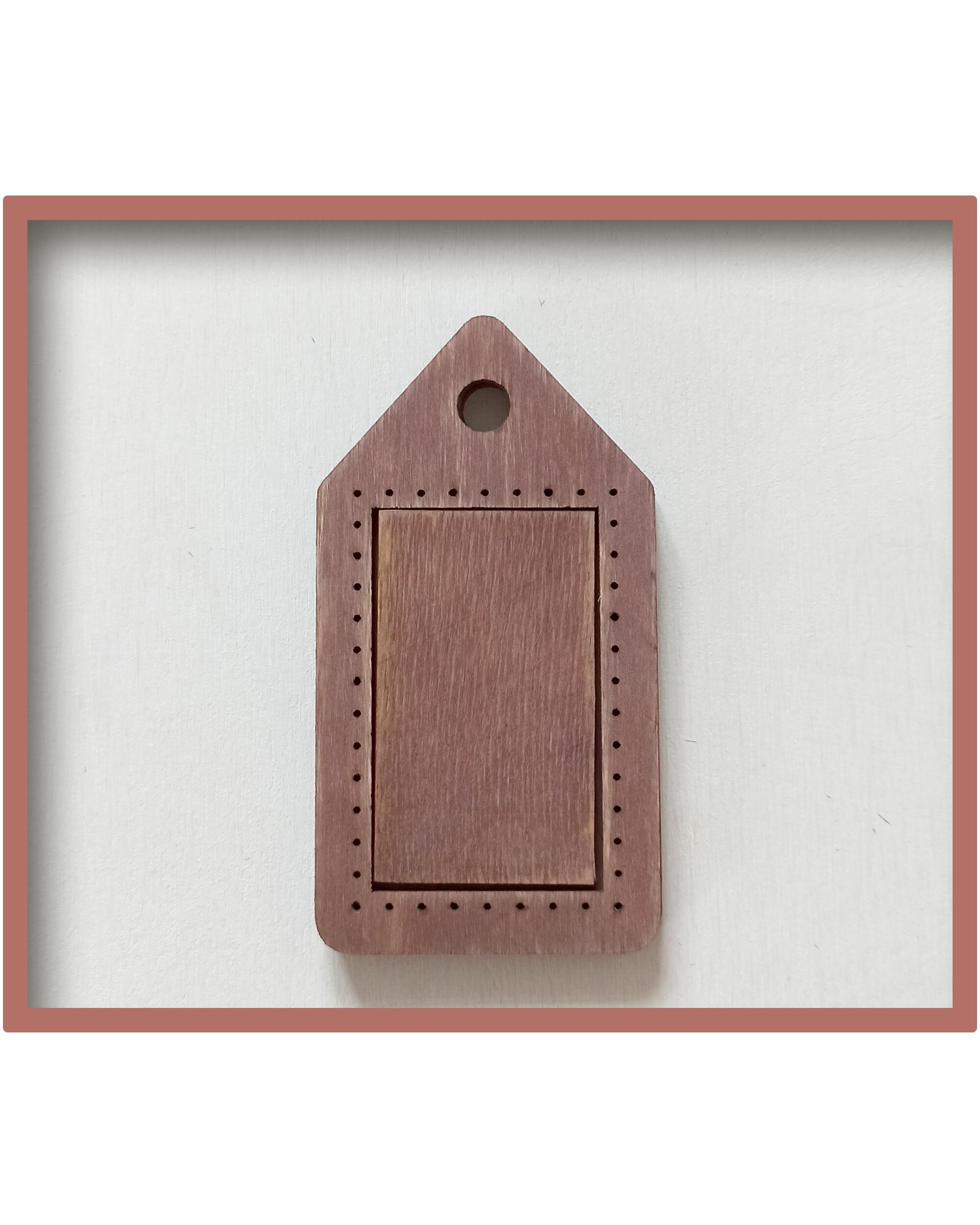 Брелок для оформления вышивки (цвет Мокко) 00003