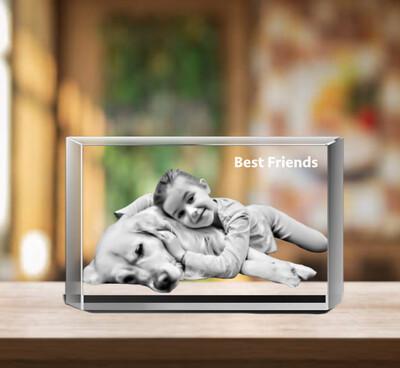 3D Photo Crystal Gift - Photo Gift - 10cm x 6cm x 6cm