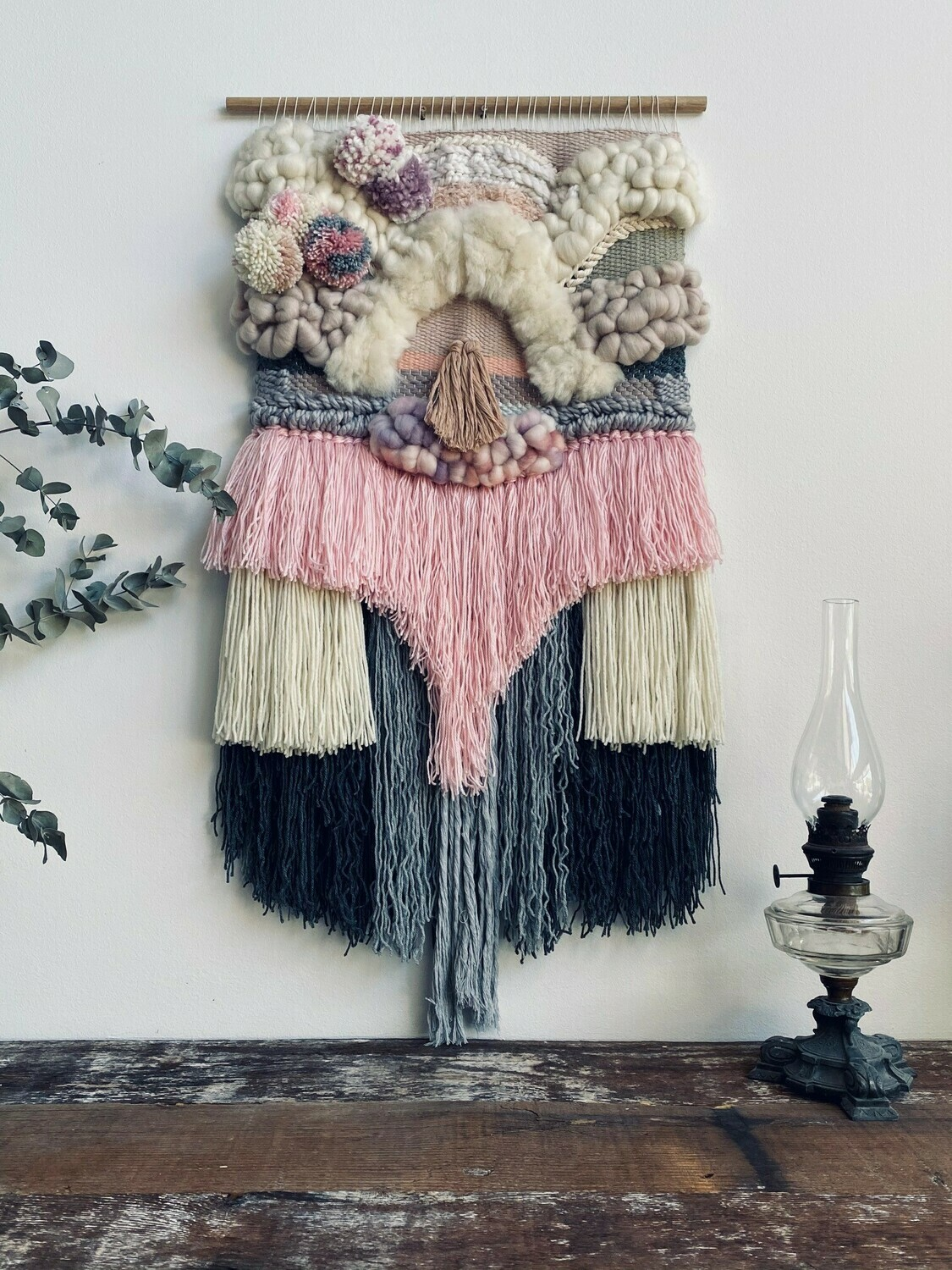 Large woven wall hanging 50 cm wide
